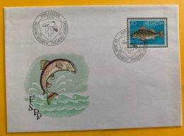 10369 - Enveloppe 100 Jahre Schweiz Fischerei-Verband Luzern 18.08.1983 - Fishes