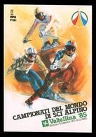 CAMPIONATI DEL MONDO DI SCI ALPINO Valtellina '85 - Bormio / Santa Caterina (con Annullo Postale: 30/1/1985) - Winter Sports