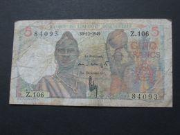 5 Francs 1949 - Banque De L'Afrique Occidentale  **** EN ACHAT IMMEDIAT **** - Billets