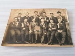 Carte Photo Classe Militaire ? 1940 Chamzé Mayenne - Persone Anonimi