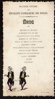 1902 - Menu - Souper Intime Des Etudiants Catholiques Des Ecoles - 2 Scans - Menus