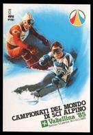 CAMPIONATI DEL MONDO DI SCI ALPINO Valtellina '85 - Bormio / Santa Caterina (con Annullo Postale: 9/2/1985) - Winter Sports