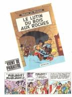 """PUB ALBUM  """" JOHAN ET PIRLOUIT """" """" LE LUTIN DU BOIS AUX ROCHES   """"   1967 ( 1 ) - Objets Publicitaires"""