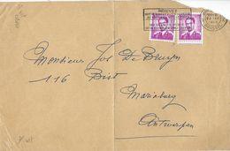 1067 R   -   ROLZEGEL N° 3   - (Boudewijn 3 Fr  Wit Papier)  Los Uit   PAAR  Op  Voorblad Brief   -   1964   Bruxelles - Rouleaux