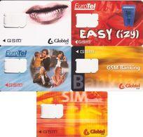 115/ Slovakia; Globtel + Eurotel, 5 Old GSM Cards - Slovaquie