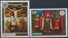 Andorra (fr) 1975  EUROPA CEPT Painting MiNr  264-265  MNH /** - Europa-CEPT