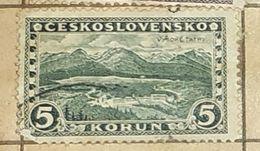 CZECHOSLOVAKIA-VIEW TO TATRA MOUNTAIN-USED STAMP - Czechoslovakia