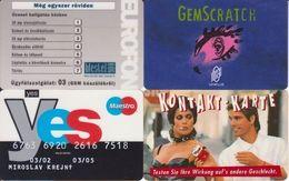117/ Europe; 4 Differend Cards - Télécartes