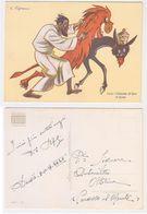 Zigrano - Addis Abeba, Impero Coloniale Africa, Giuda: Finiscila Di Fare Il Leone, Illustrata, Illustree, Signee, 1937 - Autres Illustrateurs