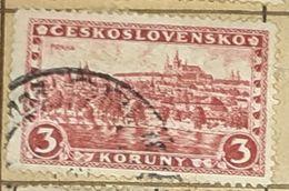 CZECHOSLOVAKIA-VIEW TO PRAHA CITY-USED STAMP - Czechoslovakia