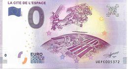 Billet Touristique 0€ - 31 - La Cité De L'Espace - 2018-2 - Private Proofs / Unofficial