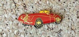 Pin's JAGUAR XK Cariolet Rouge - Verni époxy - Fabricant Inconnu - Jaguar