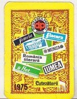 Romania Old 1975 Small Calendar - DP Difuzarea Presei - Calendars