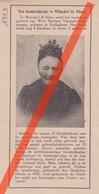 SINT-ELOOIS-WINKEL  - WWE BARBARA VANNESTE VAN TOMME - 1923 - Tijdschriftafbeeldingen - Vecchi Documenti
