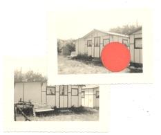 Lot De 2 Photos ( +/- 6 X 9 Cm ) BREDENE - Camping De L'Aurore  Av. Reine Astrid, 6 - Prpriétaire Mr Blom  (B280) - Plaatsen