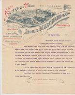SEINE & OISE: L. MARCHAND, Carrières De Plâtre à Montmorency / L. De 1904 Pour Neuvy / Loire - Petits Métiers
