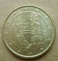2013 AUSTRIA Cattedrale  Santo Stefano 10 Centesimi EURO - Circolata - Autriche
