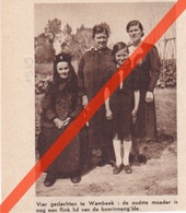 WAMBEEK - VIER GESLACHTEN  - 1939 - Tijdschriftafbeeldingen - Vecchi Documenti