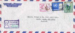 36949. Carta Aerea Certificada  BUCHANAN (Liberia) 1982 To England. Stamp Malaria And Olympic Games - Liberia