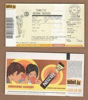 AC - TURKEY V BOSNIA HERZEGOVINA BASKETBALL TICKET 18 SEPTEMBER 2004 - Eintrittskarten