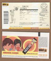 AC - TURKEY V ESTONIA BASKETBALL TICKET 11SEPTEMBER 2004 - Eintrittskarten
