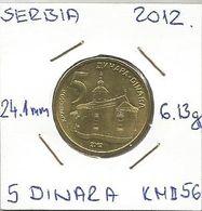 G2 Serbia 5 Dinara  2012. KM#56 - Serbia