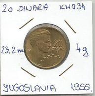 G2 Yugoslavia 20 Dinara 1955.  KM#34 - Joegoslavië