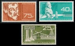 POLYNESIE 1965 - Yv. PA 11 12 Et 13 **   Cote= 57,50 EUR - Musée Gauguin (3 Val.)   ..Réf.POL25122 - Poste Aérienne