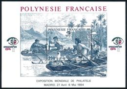 POLYNESIE 1984 - Yv. BF 9 ** SUP  Cote= 8,50 EUR - Expo Phil. Espana'84  ..Réf.POL25107 - Blocs-feuillets