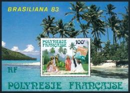 POLYNESIE 1983 - Yv. BF 7 ** SUP  Cote= 4,00 EUR - Expo Phil. Brasiliana'83  ..Réf.POL25105 - Blocs-feuillets