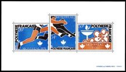 POLYNESIE 1976 - Yv. BF 3 **   Cote= 110,00 EUR - Jeux Olympiques De Montréal  ..Réf.POL25104 - Blocs-feuillets