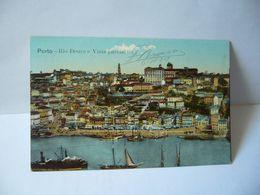 PORTO PORTUGAL RIO DOURO E VISTA PARCIAL CPA ECLUSIVO DOS GRANDES AMAZENSCHERMINOS - Porto