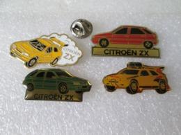 PIN'S   LOT  4  ZX  CITROEN - Citroën