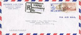 36955. Carta Aerea Certificada PAYNEFIELD (Liberia) 1961. Boys Scouts Stamp - Liberia