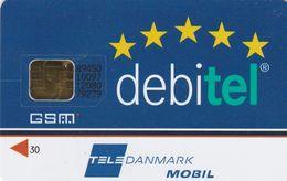 Denmark, DK-DEB-GSM-0001, Debitel With TeleDanmark Logo, SIM Card With Chip, 2 Scans   Different Chip - Dänemark