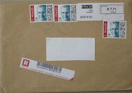 België 2020 Mettet Try Joly PRIOR In Zwart Kader - Cijfer 1 (enveloppe 23 Cm X 15 Cm) - Postage Labels