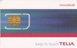 Denmark, DK-TLI-GSM-0002, Keep In Touch TELIA, SIM Card With Chip, 2 Scans - Dänemark