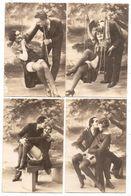 Lot De 20 Cartes Photos De Couples (femme Avec Lingerie : Bas...) : érotiques - De Charme - Coquines - Nus Adultes (< 1960)