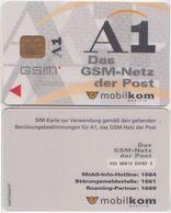 9/ Austria; Mobilkom, Old GSM SIM Card - Autriche