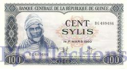 GUINEA 100 SYLIS 1980 PICK 26a AUNC - Guinea