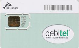 Denmark, Debitel Sonofon, GSM / SIM Card With Chip, Dolphin, 2 Scans - Dänemark
