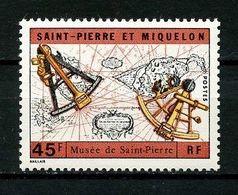 ... RARE ... SPM  MIQUELON 1971 N° 418 ** Neuf MNH LUXE Musée De Saint Pierre Carte Sextant - St.Pierre & Miquelon