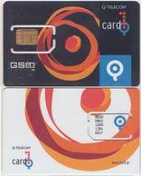 15/ Estonia; Q-telecom, Unbroken Old GSM SIM Card - Estonia