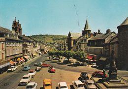 12 ESPALION, Les Boulevards, Les Tours De La Cathédrale, Voitures D'époque 403, 4CV 4L, 2CV - Espalion