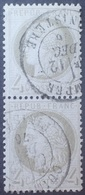 R1286/145 - CERES N°52 (PAIRE) - CàD De QUIMPER (Finistère) Du 12 DECEMBRE 1876 - 1871-1875 Cérès