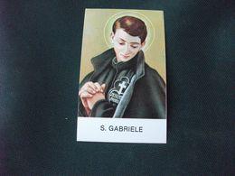 SANTINO HOLY PICTURE PREGHIERA A S. GABRIELE - Religion &  Esoterik