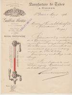 SEINE: GUILBERT-MARTIN, Manufacture De Tubes & Emaux, R. Genin à St Denis / L. De 1893 - Autres