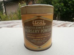 Borated Zinc & Starch Nursing Powder - Ucal Laboratories Cheltenham UK -  Boîte Metal - Old Metal Box - Boxes