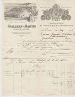 SEINE: GUILBERT-MARTIN, Manufacture De Tubes & Emaux, R. Genin à St Denis / Fact  De 1893 - Autres