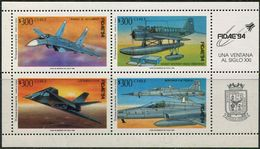 Chile 1994. Michel #1597/600 MNH/Luxe. Aircraft. Airplanes. International Aerospace Exhibition FIDAE '94 (Ts27) - Universal Expositions
